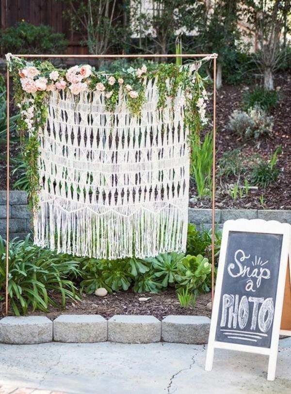 Sommerparty Deko Ideen Gartenparty Fotos machen Hintergrund