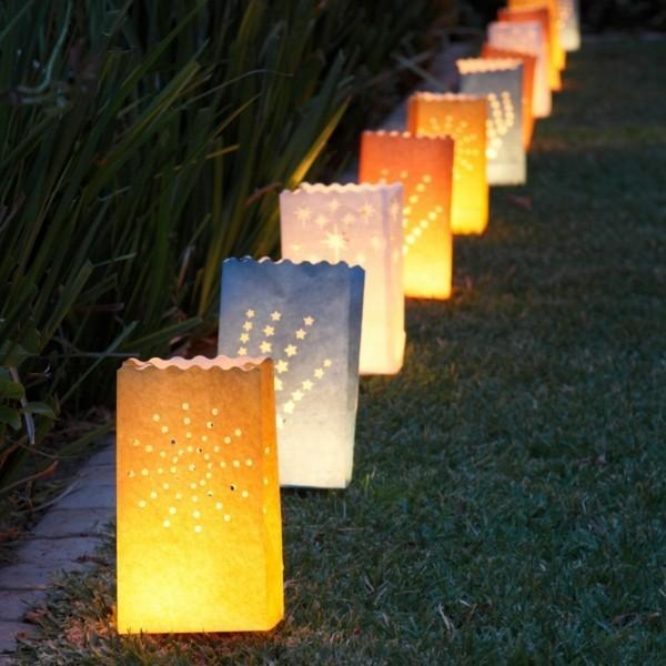 Sommerparty Deko Ideen Gartenparty Gartenbeleuchtung Papierlaternen