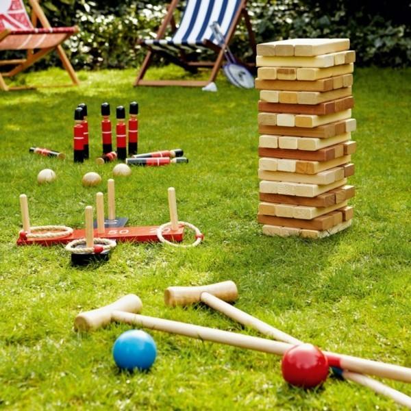 Sommerparty Deko Ideen Gartenparty Gartenspiele Holzspielzeuge
