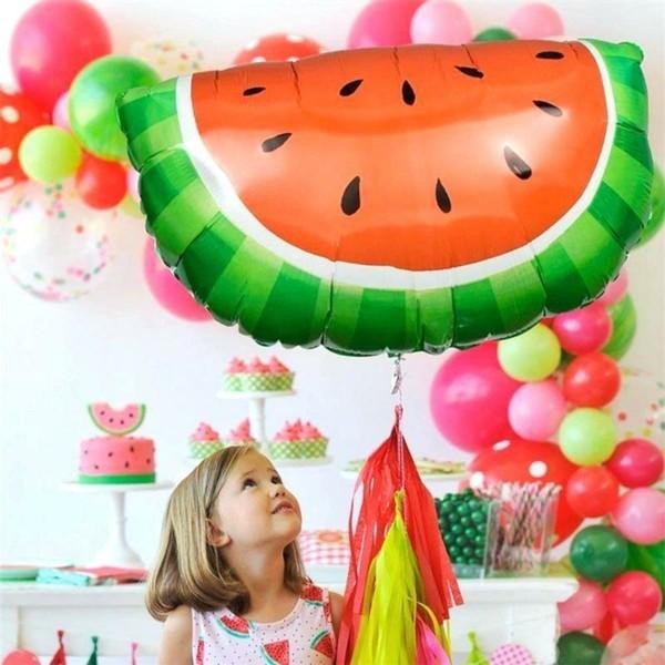 Sommerparty Deko Ideen Gartenparty Luftballons Wassermelone