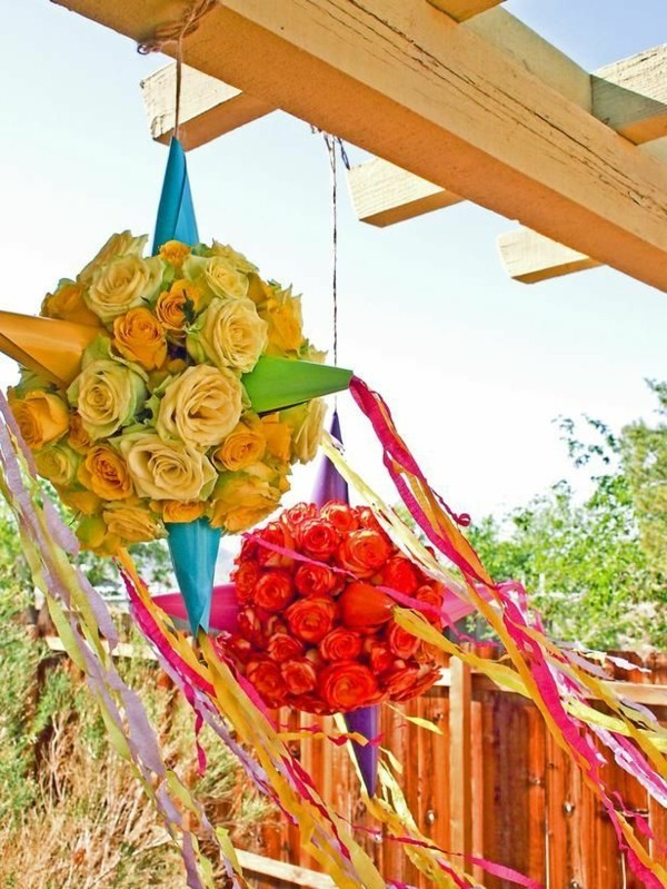 Sommerparty Deko Ideen Gartenparty Pinata Blumen