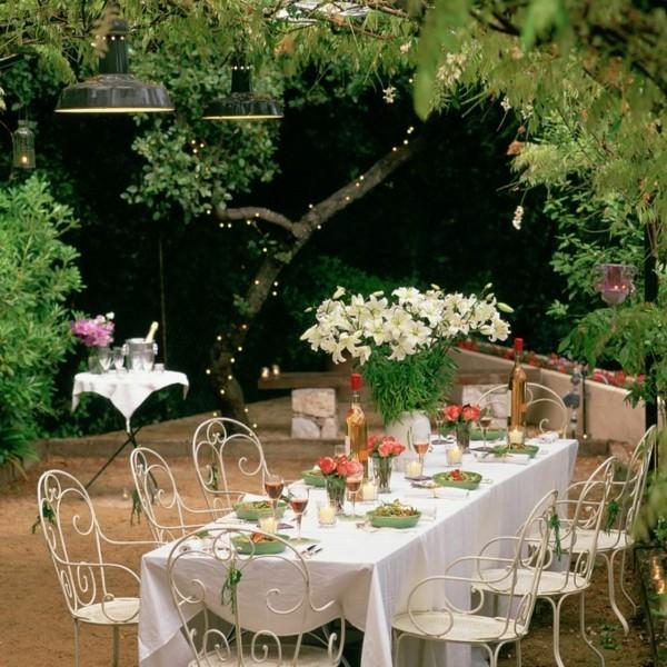 Sommerparty Deko Ideen Gartenparty Tisch decken