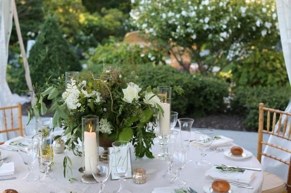 Sommerparty Deko Ideen Gartenparty Tisch eindecken Kerzen