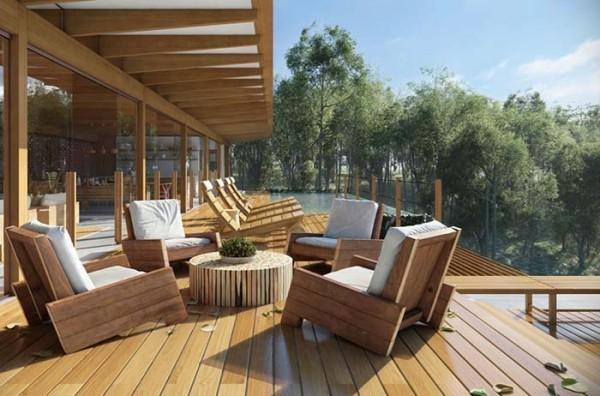 Stühle auf einer Terasse - Traumhaus
