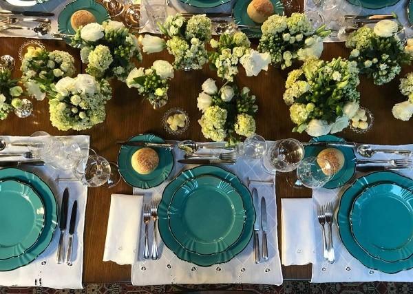 Tolle breite Servietten - Hochzeitsdeko