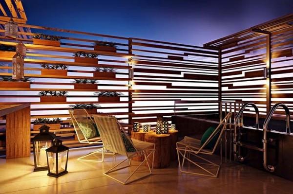Traumhaus - tolle Holzgeländer drum herum