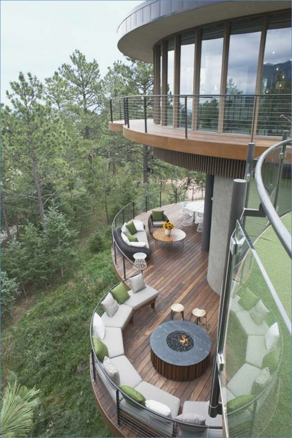 Traumhaus - zwei ovale Kreise - Wald
