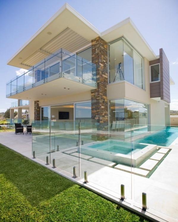Viel Glas in der Fassade - moderne Häuser