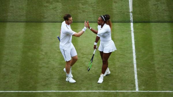 Wimbledon 2019 Andy Murray Serena Williams spielen Gemischtes Doppel zusammen