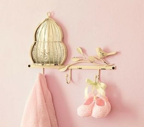 babyzimmerdekoration idee vogelkäfig deko