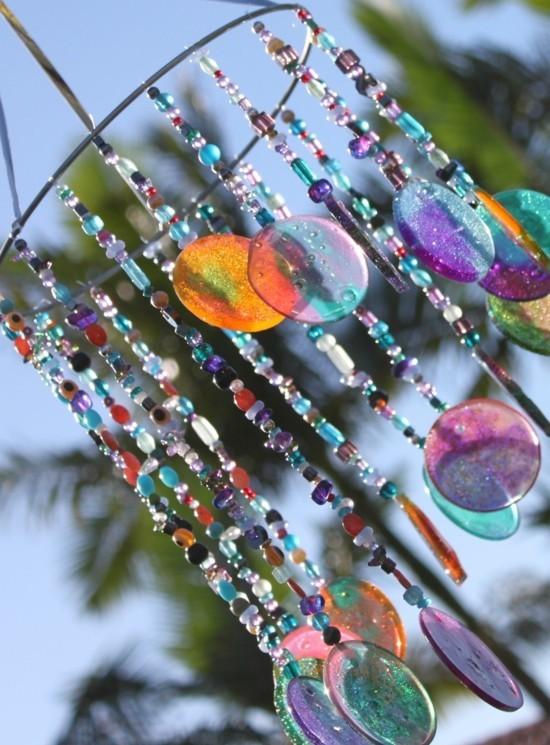 diy sonnenfänger basteln mit glasperlen