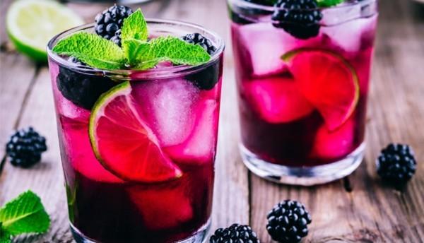 durstlöscher limonade mit brombeeren