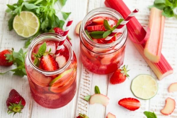erdbeer limonade als durstlöscher zubereiten