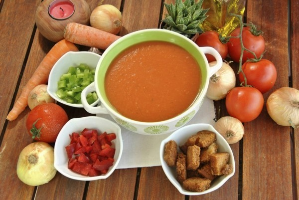 gazpacho rezept original kalte tomatensuppe