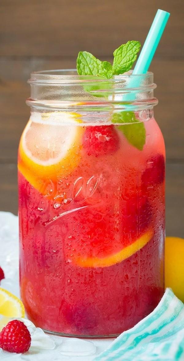 himbeer minze limonade durstlöscher