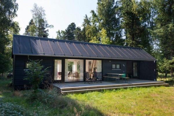 längliches Haus - ein Geschoss, moderne Häuser
