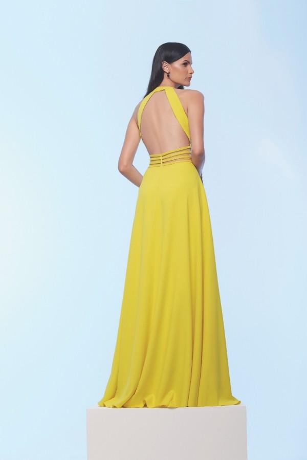 lang und offiziell in Gelb Damenkleider