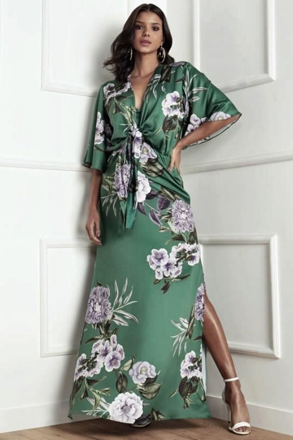 lange grüne Pracht - tolle Damenkleider