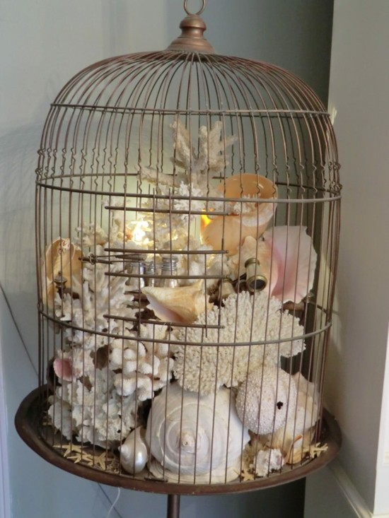 maritime vogelkäfig deko idee
