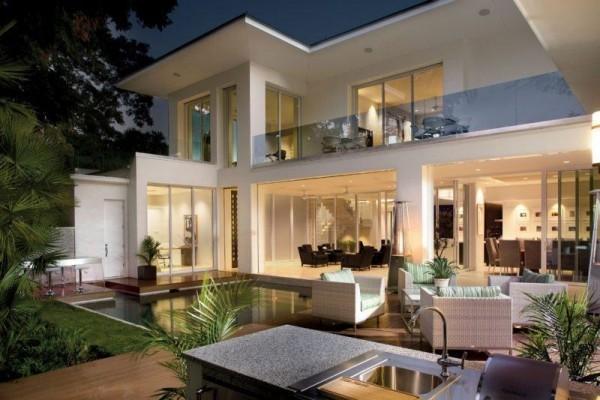 mehrere tollen Paneele moderne Häuser