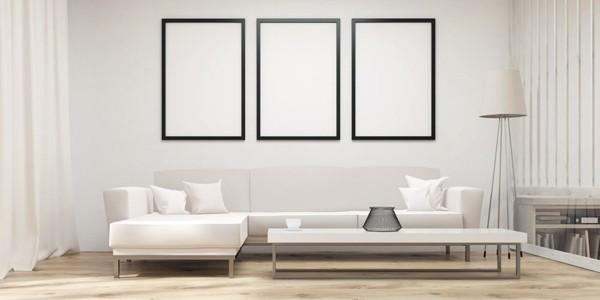 minimalistisch wohnen gerade linien helle töne