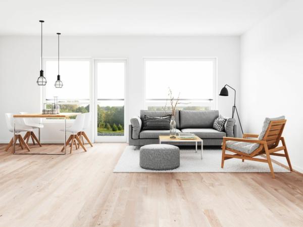 minimalistisches wohnzimmer puristish wohnen
