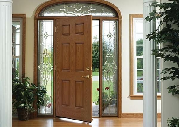 moderne Eingangstür Außentür Haustür Glasfasertür