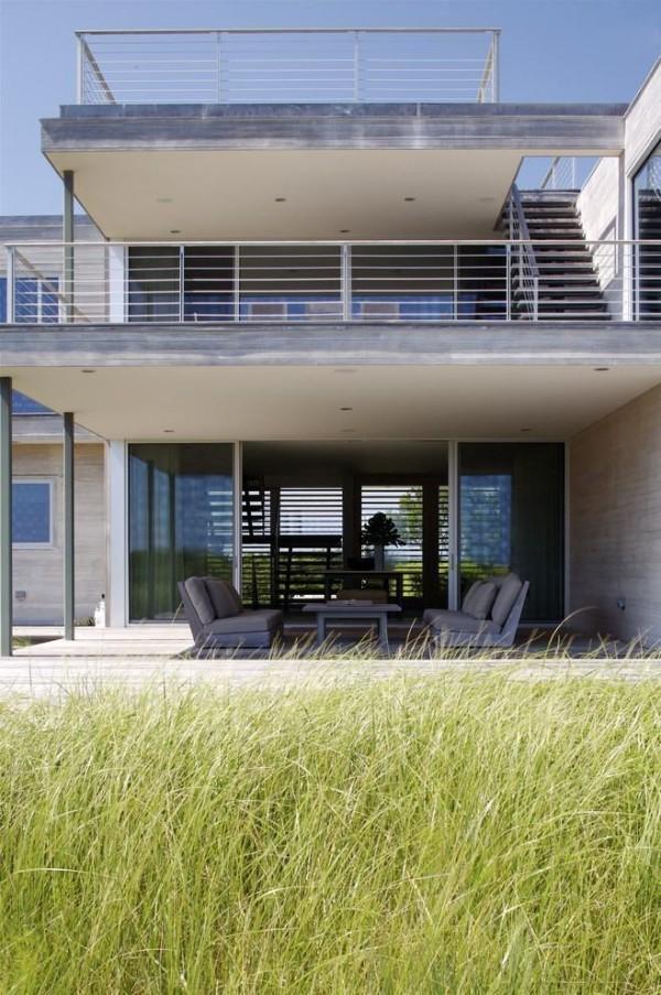 moderne Häuser Grau und Weiß