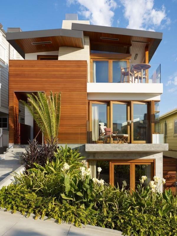 moderne Häuser - Holz und Glas