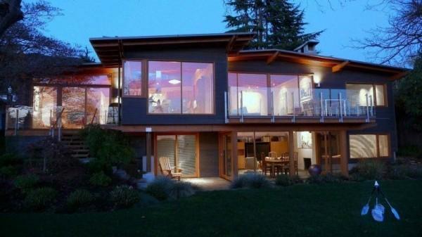 moderne Häuser Idee im Wald