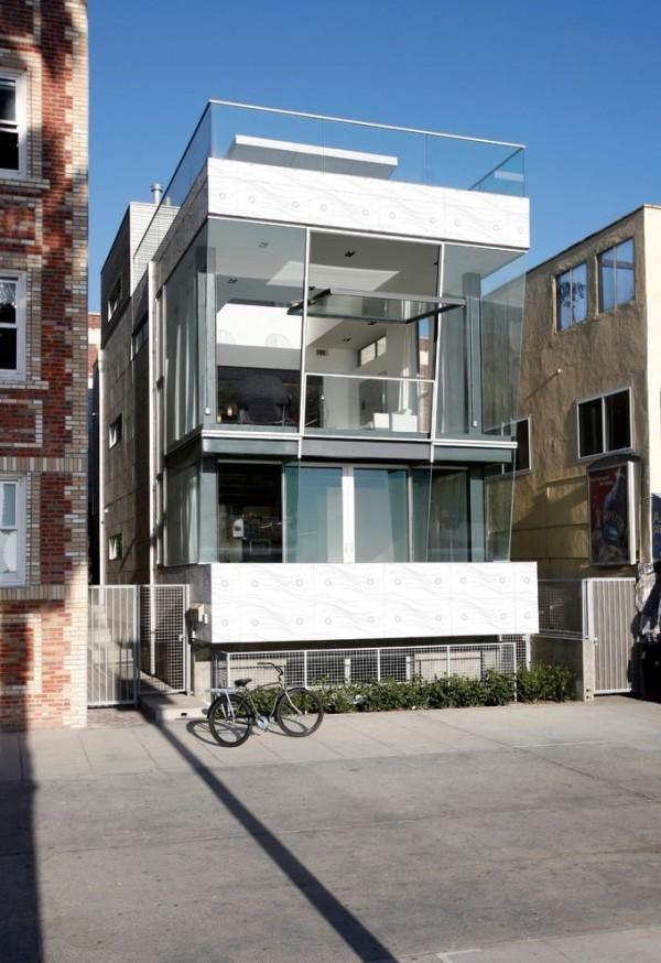 moderne Häuser - Metall an der Fassade
