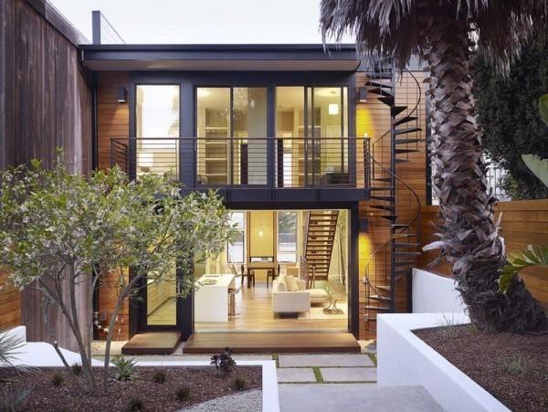 moderne Häuser in einem tropischen Umfeld