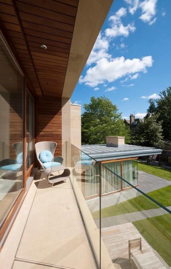 moderne Häuser - kleine Veranda