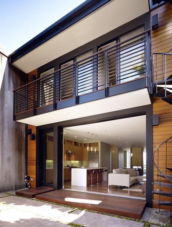 moderne Häuser schwarz braun und grau