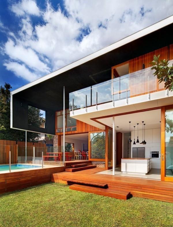 moderne Häuser - tolle Gestaltung - Holz und Glas