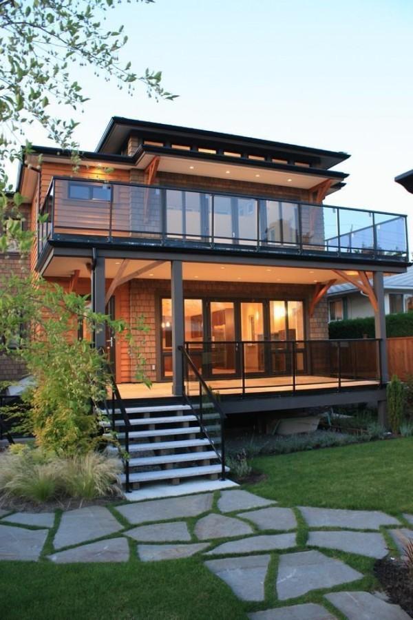 moderne Häuser tolle Stufen und Trittsteine