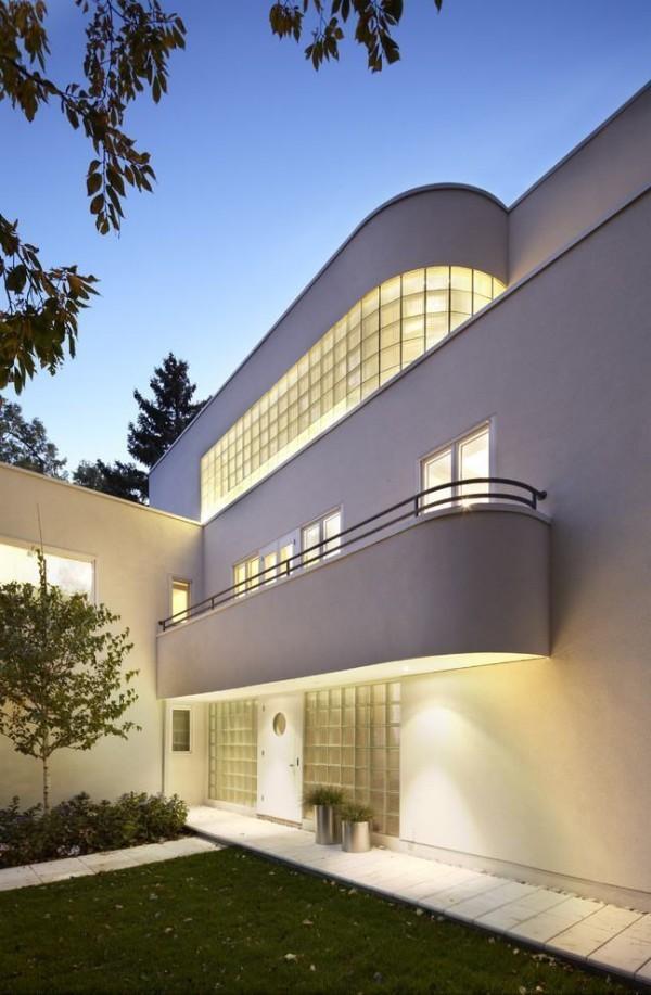 moderne Häuser - tolle ovale Veranda-Geländer