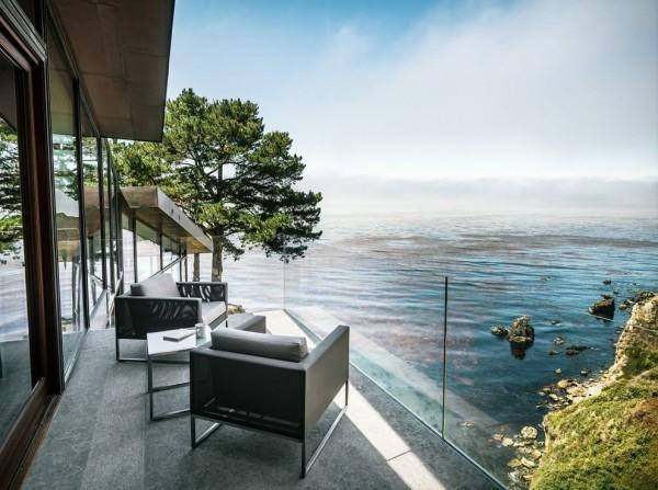 moderne Häuser - tolles Meer