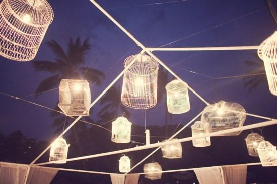 party beleuchtung vogelkäfig deko