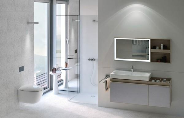 puristisch wohnen badezimmer beleuchtung