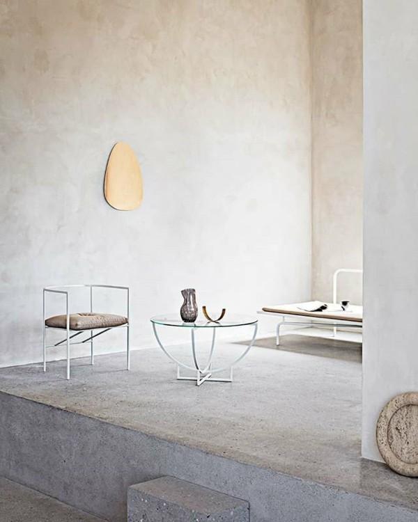 puristisch wohnen beton optik und glas