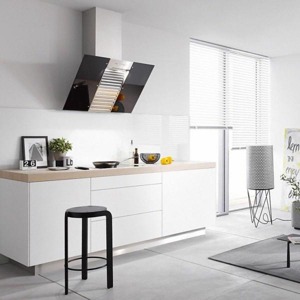 puristisch wohnen kücheneinrichtung in weiß