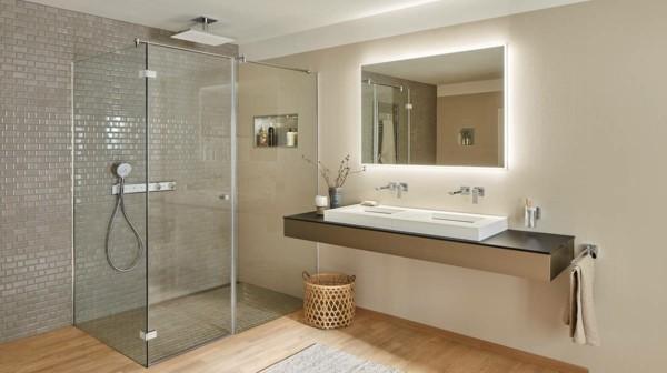 puristisch wohnen minimalistische badeinrichtung