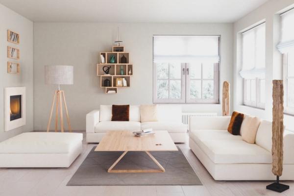 puristisch wohnen wohnzimmer minimalistisch einrichten