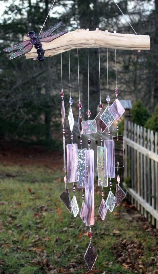 romantisches windspiel sonnenfänger basteln