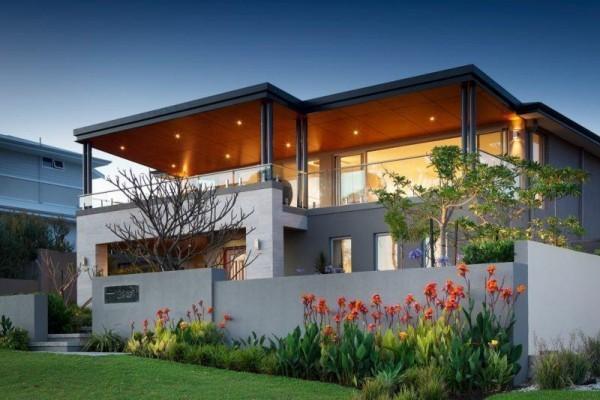 schöne Beleuchtung moderne Häuser