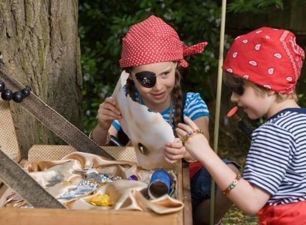 schatzsuche kindergeburtstag idee für die schnitzeljagd