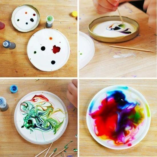 sonnenfänger basteln mit kindern acrylfarben