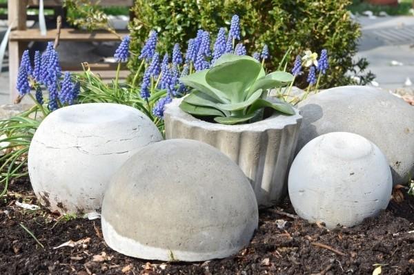 tolle schöne steine beton deko