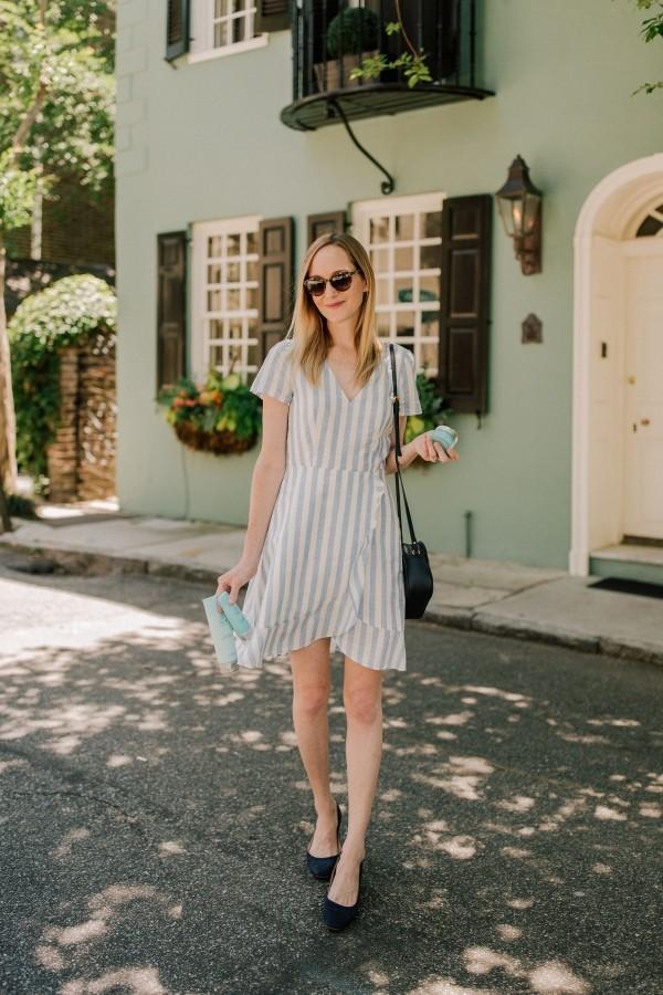 tolle schwarz-weiße Streifen - Damenkleider